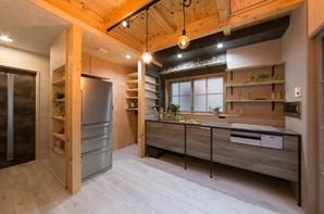 森林浴の中のキッチン